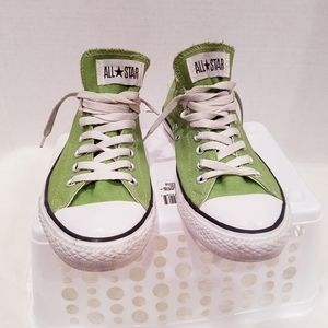 Olive Converse All Star sneakers